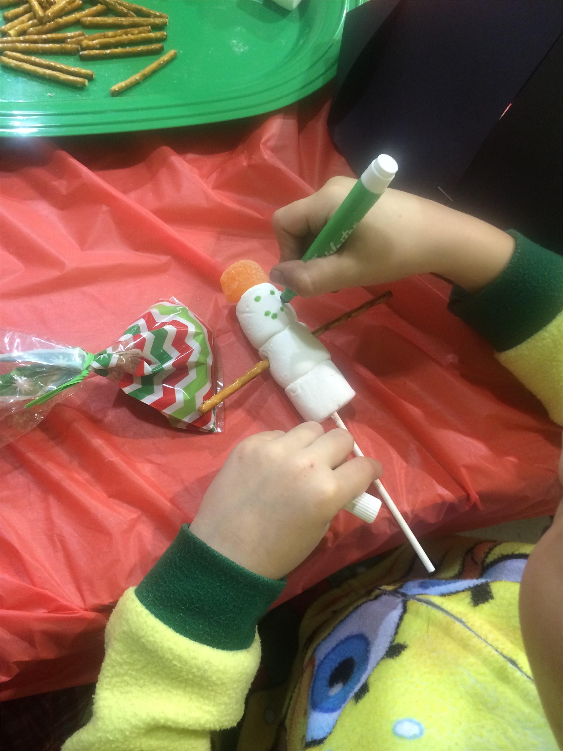Elf Party Snowman Craft