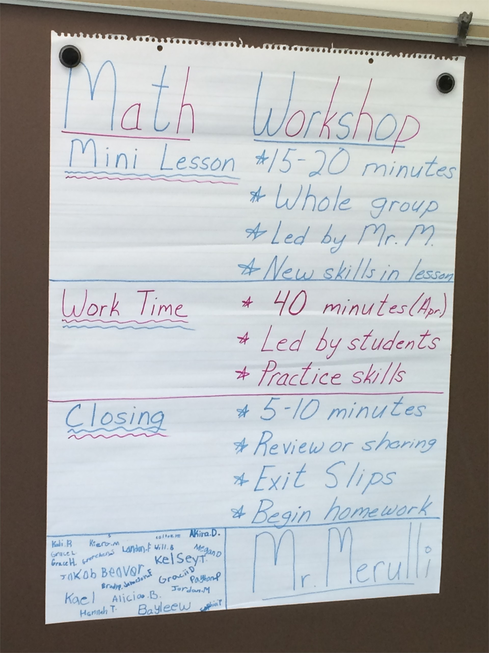 Math Workshop...What is it?