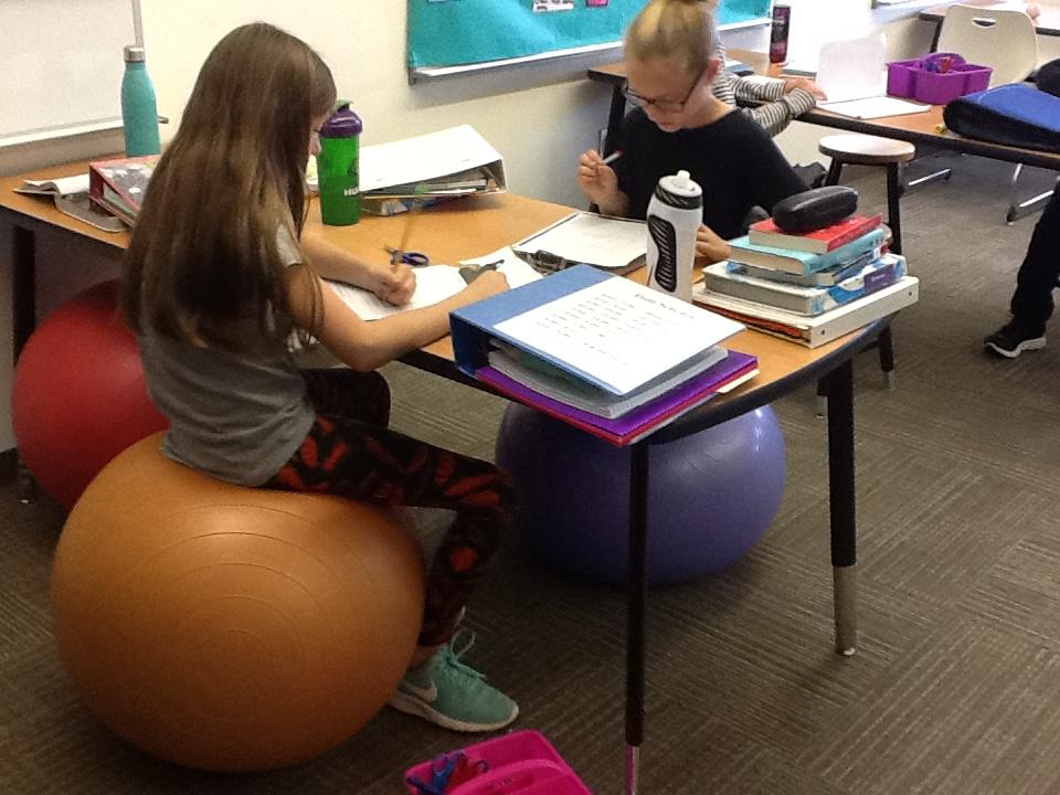 Balance ball table