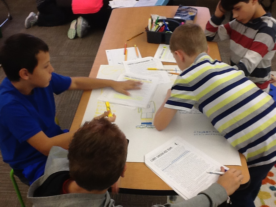 Highlighting and analyzing the text