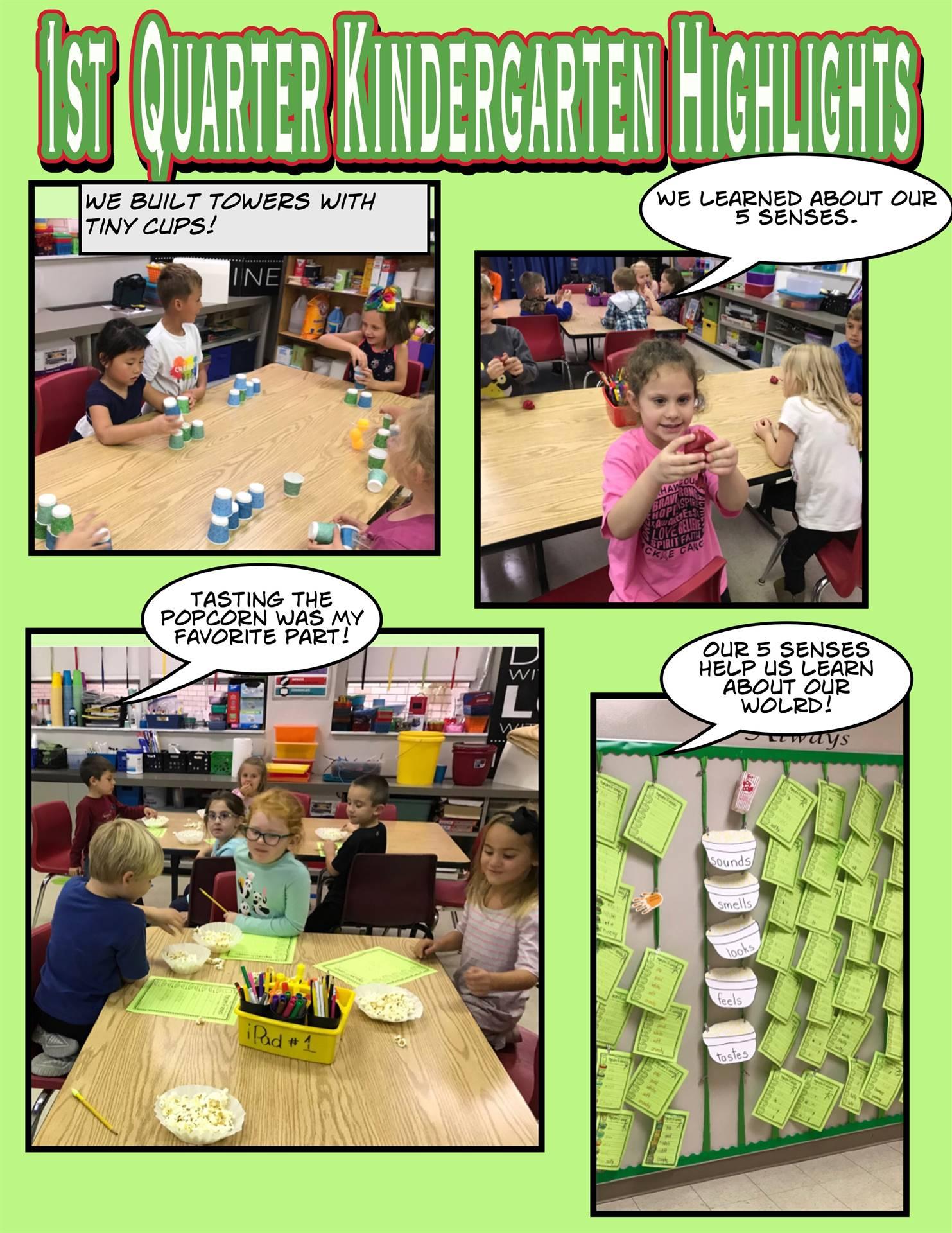 Kindergarten First Quarter Highlights