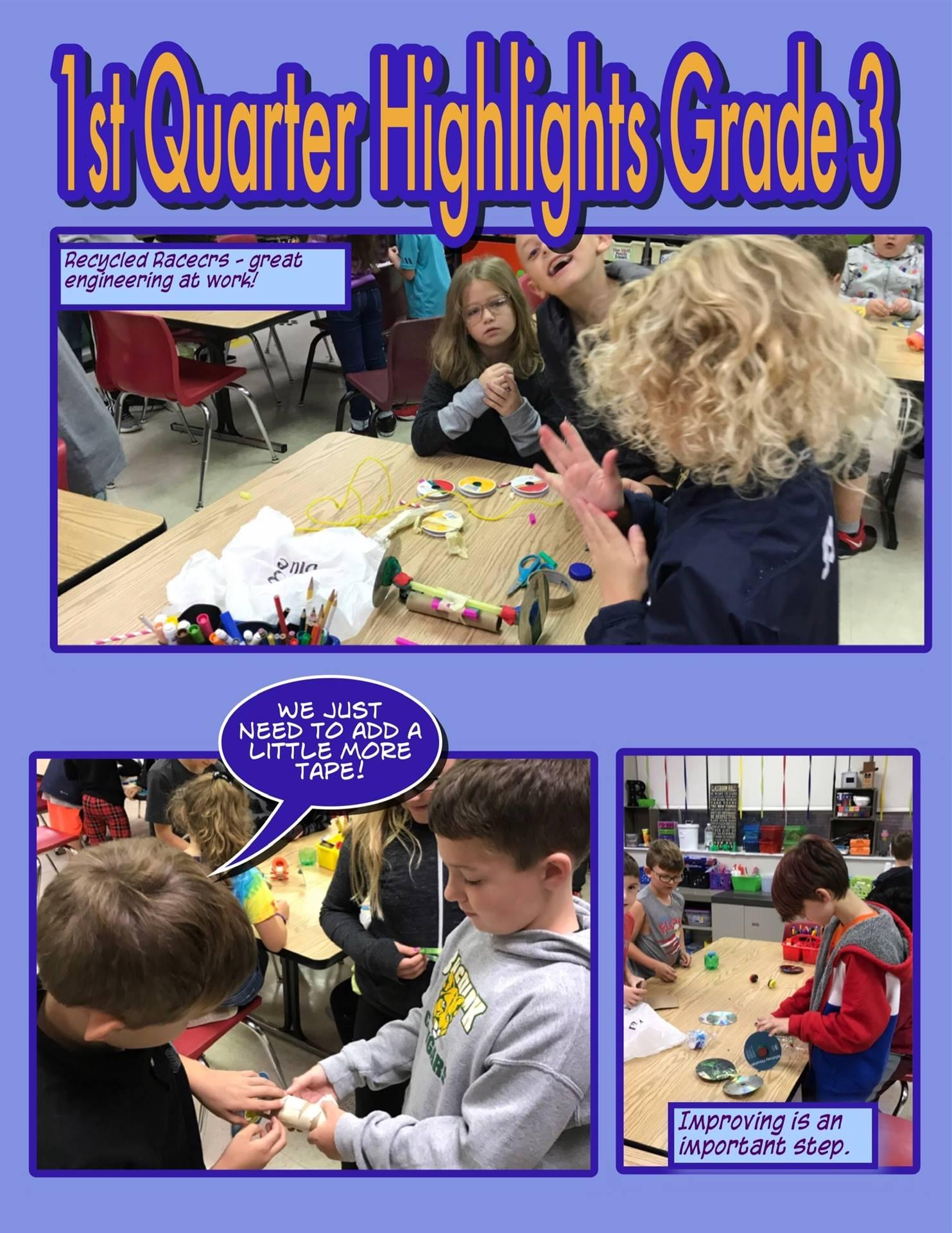 3rd Grade First Quarter STEAM Highlights