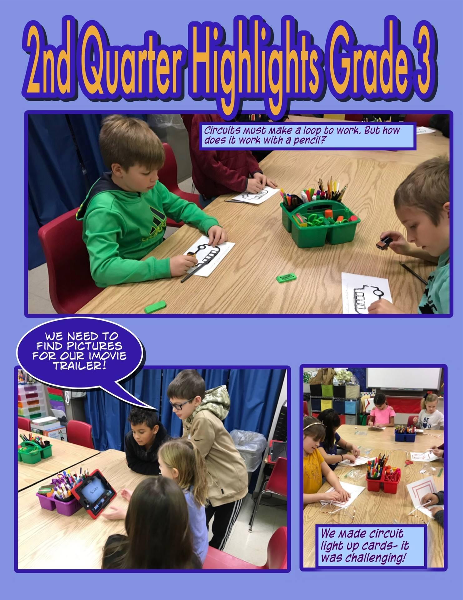 2nd Quarter Third Grade Highlights