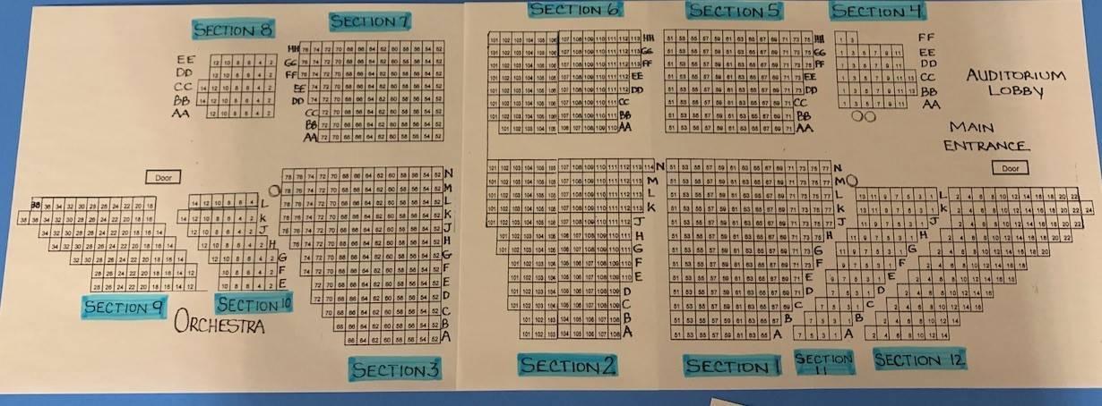 Auditorium Seating Chart