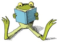 https://www.canstockphoto.com/a-frog-lying-while-reading-a-book-14471374.html