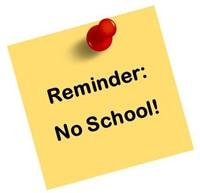 No School Memorial day